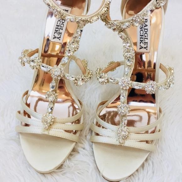 016d46d532a2 BADGLEY MISCHKA Rhinestone Wedding Sandals